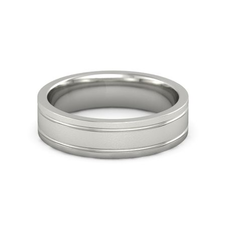 Satin Finish Double Grooved Band (6mm Band)