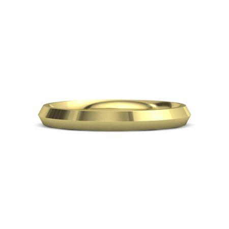 14k Yellow Gold Ring Knife Edge Band 3mm Band Gemvara