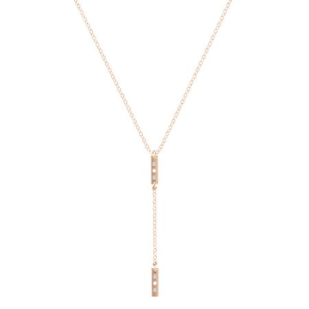 Double Bar 6-Stone Y-Necklace
