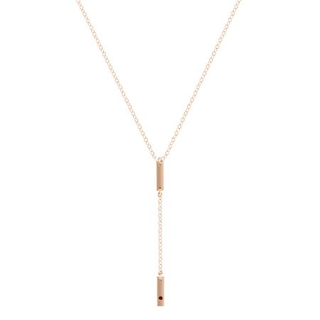 Double Bar 1-Stone Y-Necklace