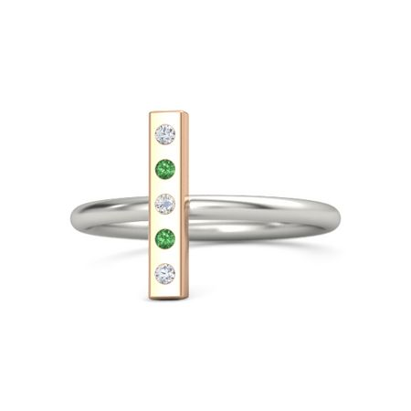 Vertical 5-Stone Bar Ring