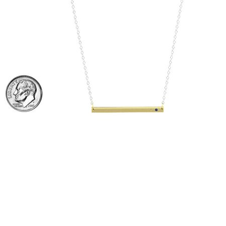 Stamped Initial Bar Necklace