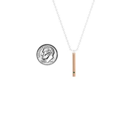 Stamped Initial Bar Pendant