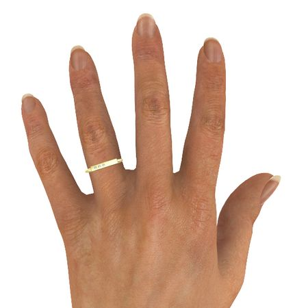 Three-Stone Bar Ring