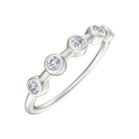 1/8 ct Moissanite Station Ring