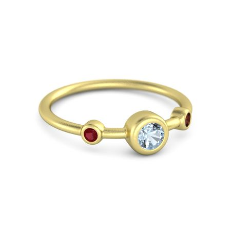 Handmade • R005 CREATED RUBY 10k Yellow Gold Ladies Ring