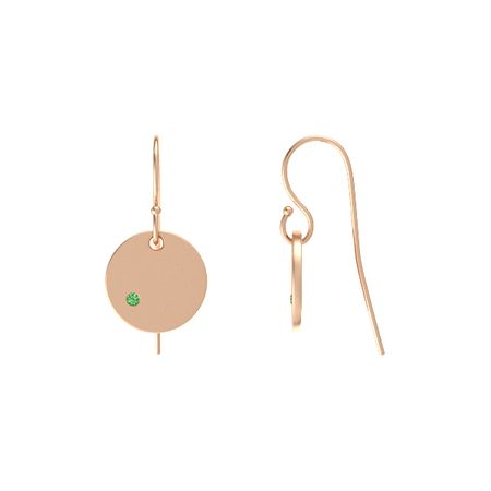 Gem Disc Drop Earrings