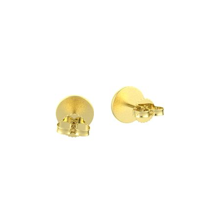 Gem Disc Stud Earrings