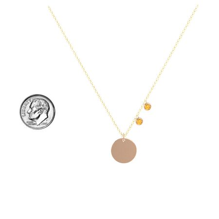 Double Gem Disc Necklace