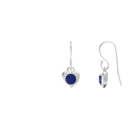 Eclipse Heart Drop Earrings