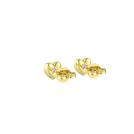 Eclipse Heart Stud Earrings