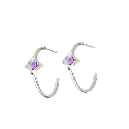 Eclipse Square Petite Hoop Earrings