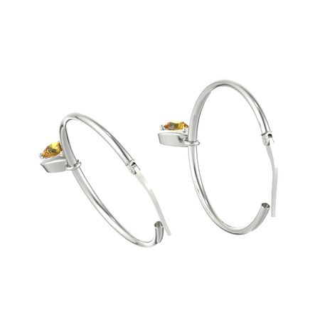 Eclipse Pear Petite Dangle Hoop Earrings