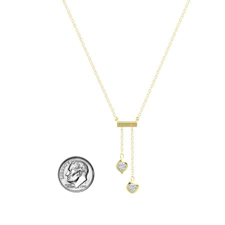 Eclipse Bar Charm Necklace