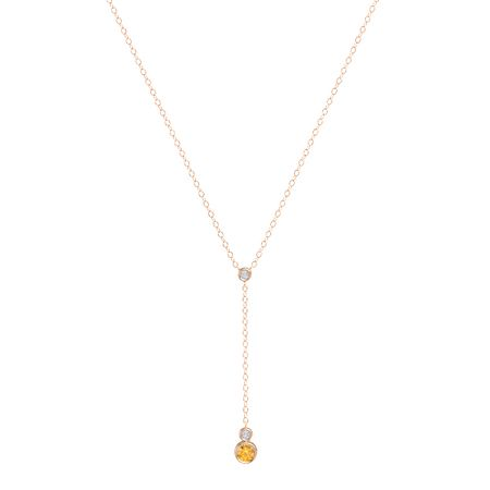 Petite Triple Stone Y-Necklace