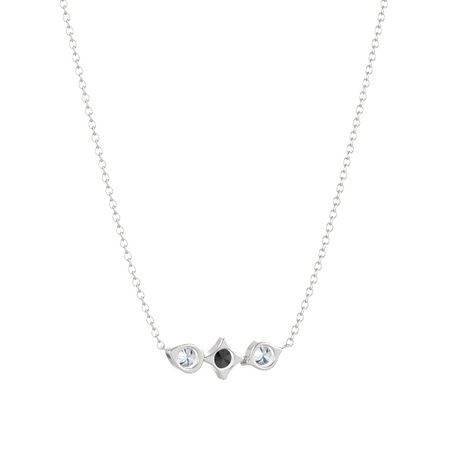 Eclipse Three Charm Bar Necklace