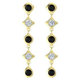Eclipse Five Stone Drop Earrings