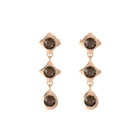 Eclipse Three Stone Drop Earrings