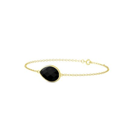 Bold East-West Pear Bracelet