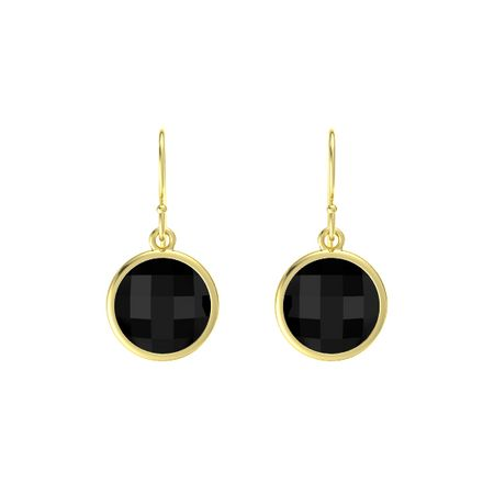 Bold Round Drop Earrings