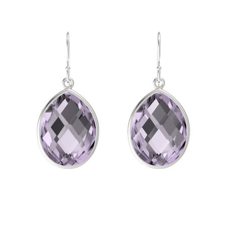 page rhodium file zirconia cubic pear clip drop product on earrings