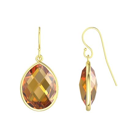 stone gold p sterling pear silver amethyst earrings gemstone asp drop plated choose