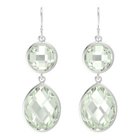 Sterling Silver Earring with Green Amethyst