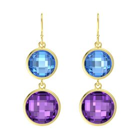Bold Double Drop Round Earrings