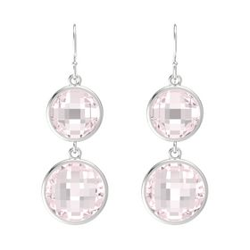 Sterling Silver Earring with Rose Quartz