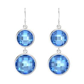 Sterling Silver Earring with Blue Topaz