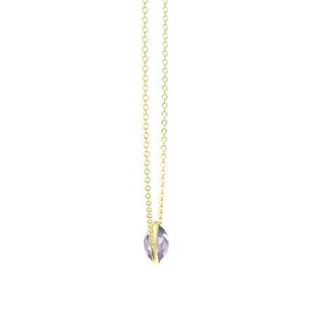 Bold East-West Pear Necklace