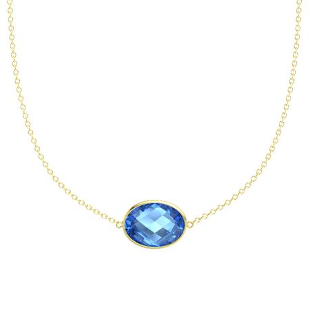 Bold East-West Oval Necklace