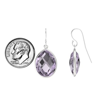 get deals white quotations clip sterling shopping rose and amethyst find w with earrings de france guides silver back g t carat created cheap green sapphire
