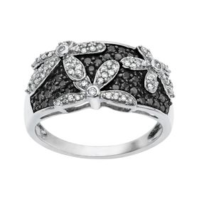 1/2 ct Diamond Flower Ring