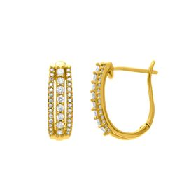1/2 ct Diamond Hoop Earrings