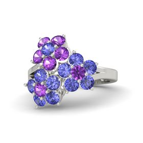Platinum Ring with Tanzanite & Amethyst