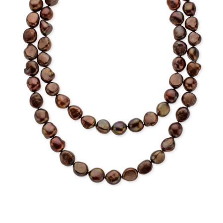 36-Inch Chocolate Pearl Strand