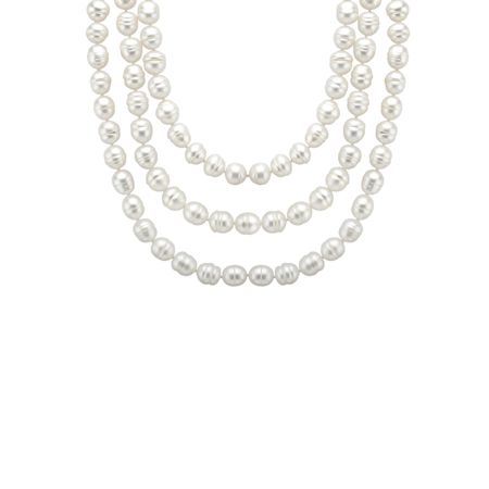60-Inch Ringed Pearl Necklace