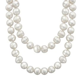 35-Inch Ringed Pearl Necklace