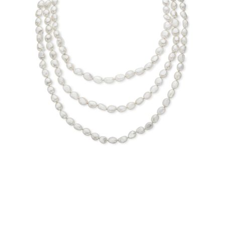 80 Inch 8-9mm Pearl Rope Necklace