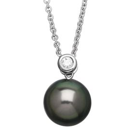 Tahitian Pearl Pendant with Diamond