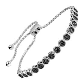 1/3 ct Black Diamond Bolo Bracelet