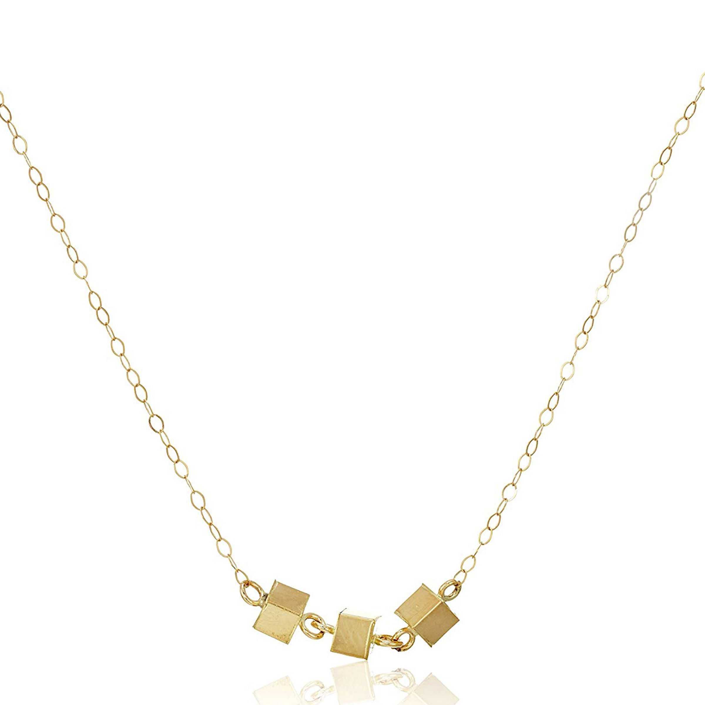Eternity Gold Beaded Bib Necklace in 10K Gold