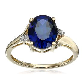 Oval Sapphire Ring with Diamonds