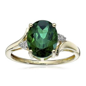 Oval Emerald Ring with Diamonds