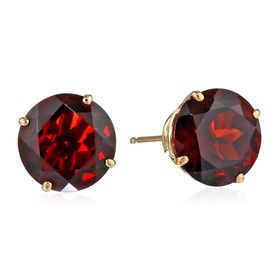 Mozambique Garnet Stud Earrings