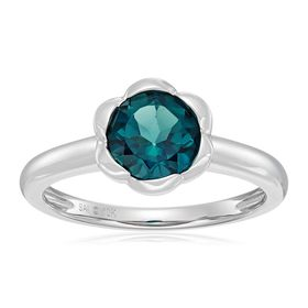 London Blue Topaz Flower Ring
