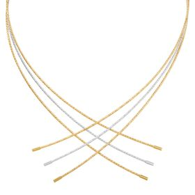 Criss-Cross Collar Necklace