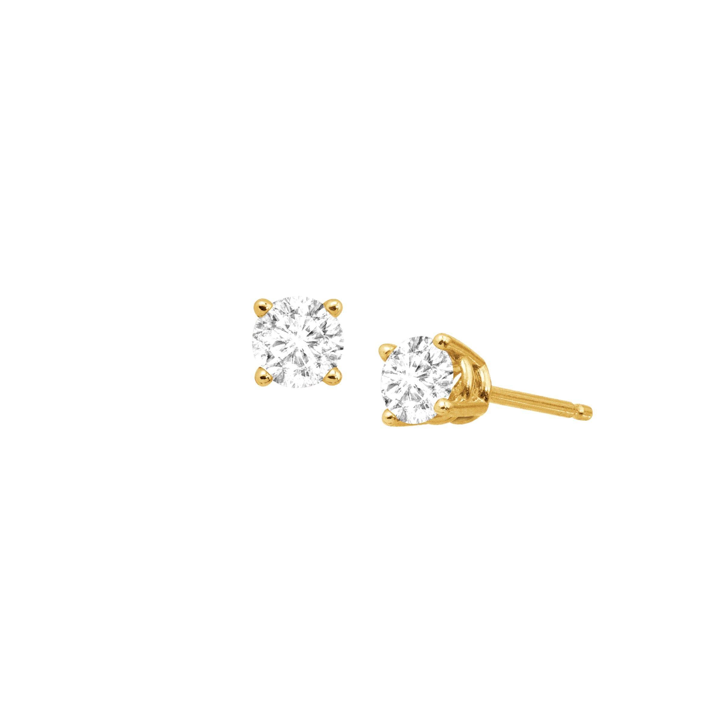1 2 Ct Diamond Stud Earrings In 14k Yellow Gold 882773207332 Ebay