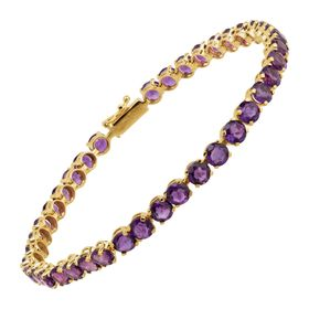 Amethyst Tennis Bracelet, Yellow